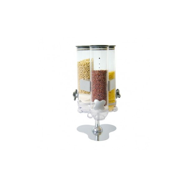DISPENSADOR DE CEREALES TRIPLE 20X20X45cm. Ref.146.73